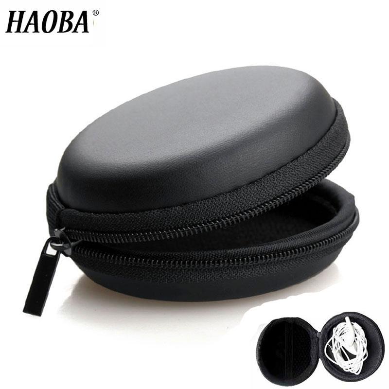 HAOBA Kopfhörer Halter Fall Lagerung Harten Tasche Box Fall Für Kopfhörer Kopfhörer Zubehör Ohrhörer speicher Karte USB Kabel