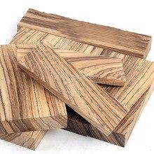 1 pièce bricolage couteau manche matériel zèbre bois (Microberlinia Brazzavillensis) cuillère fabrication matériaux maison artisanat matériaux