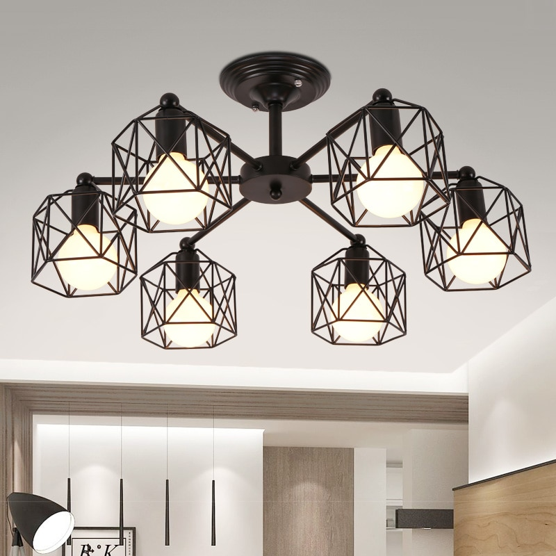 Nouvel article fantaisie plafonnier plafonnier à LED en cristal lampe lampes modernes pour salon lumières, AC110-240V bricolage LED éclairage