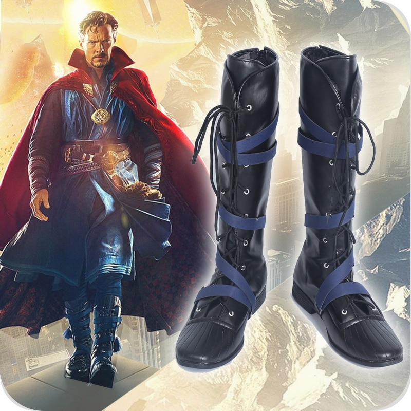 Botas de superhéroe Cosplay de Doctor Strange Stephen Steve Vincent, botas para fiesta de cine Cosplay, botas hechas a medida para hombres