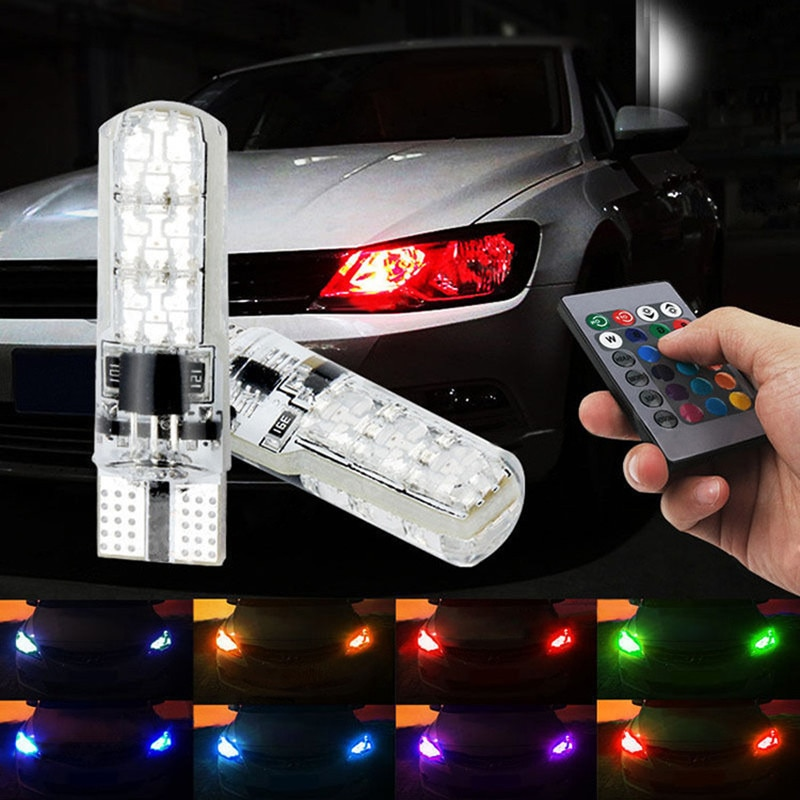 T10 RGB w5w led зазор сигнала для чтения автомобиля клиновидные лампы для BMW E46 E39 E90 E60 E36 F30 F10 E34 X5 E53 E30 F20 E92 E87 M3 M5 X5