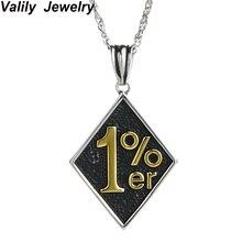 EdgLifU мужское ожерелье винтажное литье Панк Байкер 1% er подвеска ожерелье из нержавеющей стали мотоцикл длинное ожерелье для мужчин