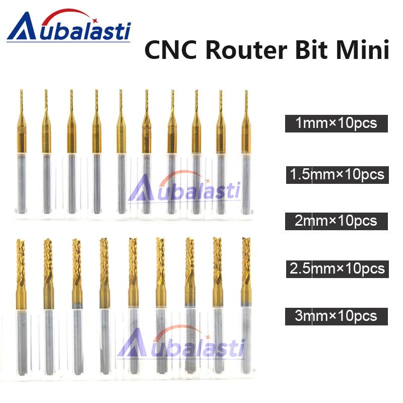CNC Machine Router Bit Mini PCB Carbide End Mill Tools 3.175 Diameter Cutting Bits CNC Milling Cutters Kit & cnc cutter milling