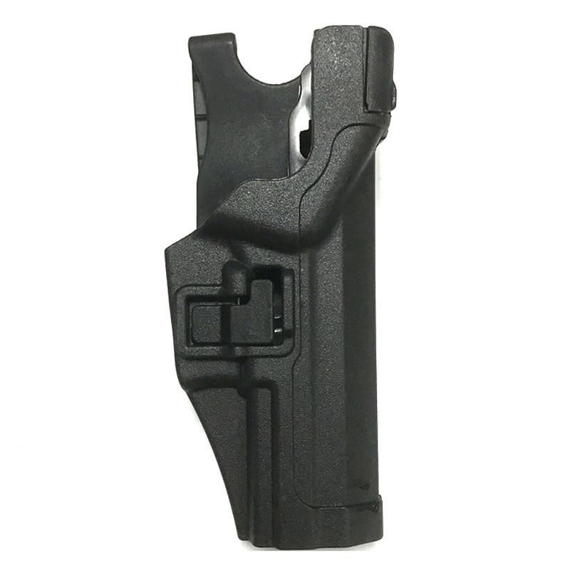 Entrenamiento táctico caza tiro mano derecha pistola pistolera para HK USP Color negro CS Wargame cintura funda de pistola de airsoft