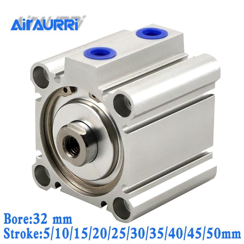 Cilindros compactos de doble barra de acción CQ2B/CDQ2B con diámetro magnético 32mm carrera 5/10 /15/20/25/30/35/40/45/50mm