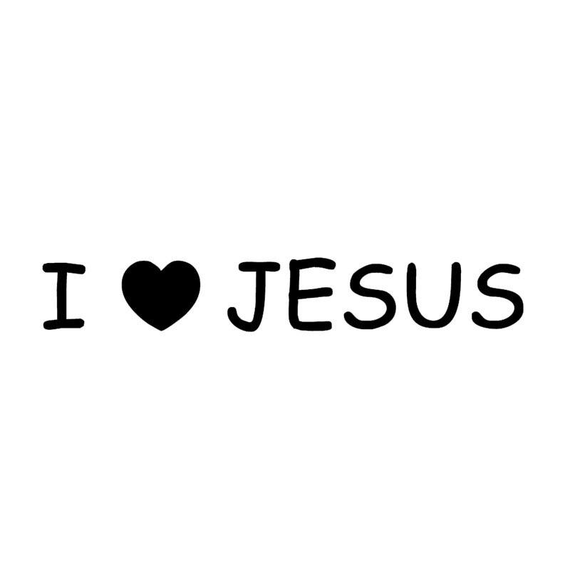 Pegatinas de coche stying I Love Jesus, pegatinas de Iglesia, Dios, fe religiosa, coche extraíble, pegatinas de parabrisas traseras Jdm