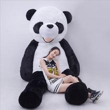 Super Large Stuffed Toy Real Life Panda Doll Factory Direct Plush Toy Bear Black White Giant Panda Birthday Gift for Girlfriend