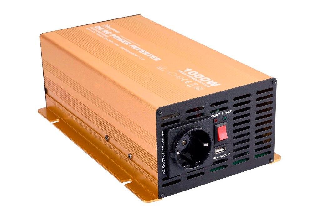 1000 Вт dc 12/24/48 В немодулированный солнечный инвертор синусоидальной волны 100%