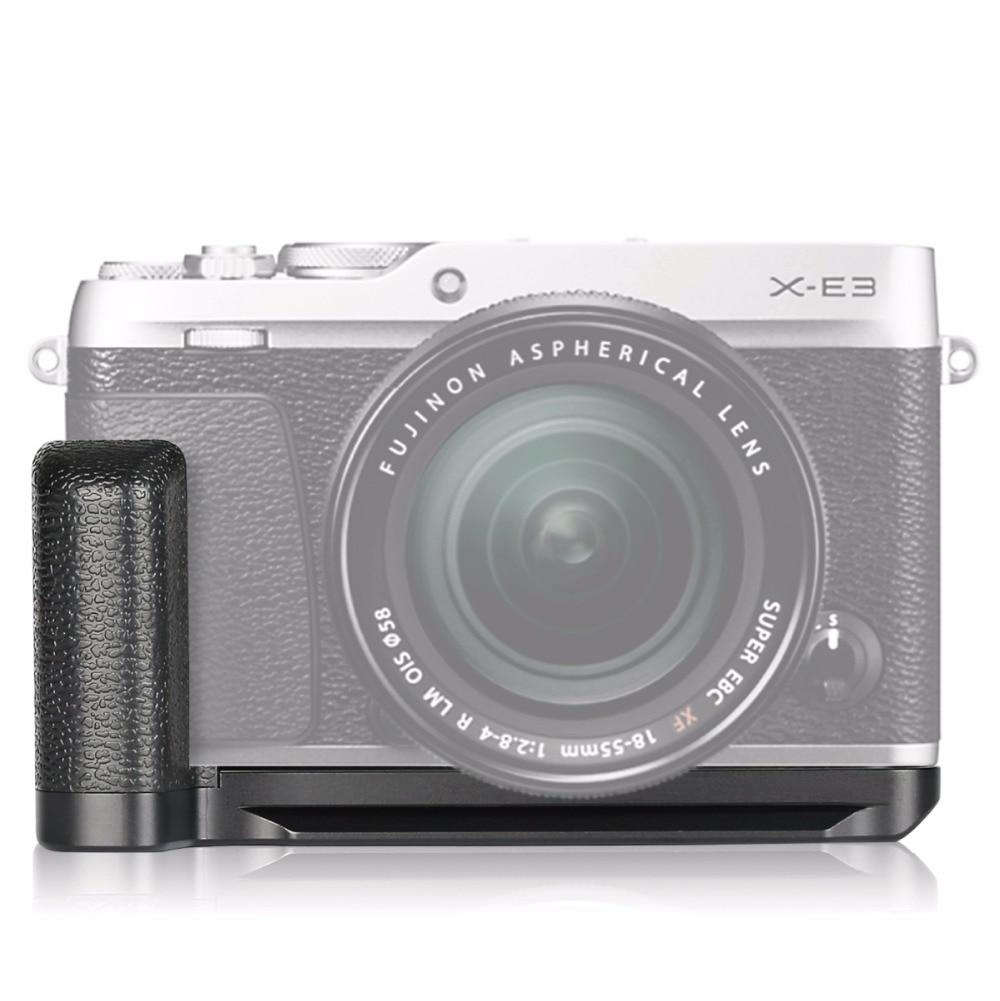 Meike MK-XE3G Aluminum Alloy Hand Grip Quick Release Plate L Bracket for Fujifilm X-E3