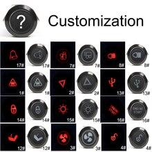 19mm customizable Alumina Momenary/Latching metal Led logo light latching fixed button switch car speaker horn buttonswitch