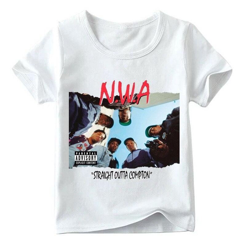 2019 enfants NWA tout droit sorti Compton T-shirt été bébé garçons/filles bande Hip Hop à manches courtes hauts enfants t-shirt style décontracté, HKP558