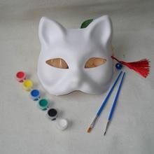 Renard brise masque blanc bricolage fait à la main Naruto non peint blanc blanc Sexy femmes fête masques mascarade masque chat Cosplay déguisement
