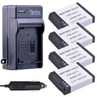 Tectra 4pcs 1400mAh Batteries + Digital Charger Kit for GoPro HD HERO2 GoPro Original HD HERO and GoPro AHDBT-001 AHDBT-002
