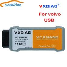 100% оригинал VXDIAG VCX NANO для Volvo OBD2 автомобильный диагностический инструмент функция лучше, чем для Volvo Dice 2014D сканер