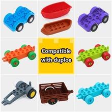 DIY Motorcycle Car Model Vehicle Set Transport Bricks Big Particles Building Blocks accessory Compatible Brand Duploingly Gift