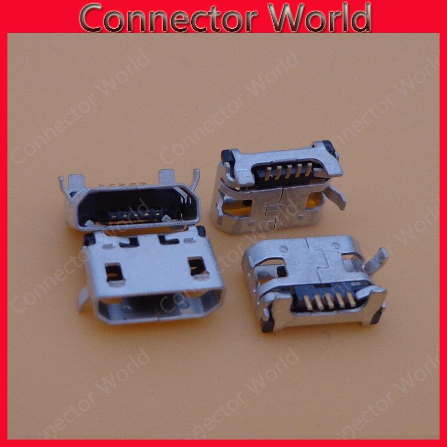 100 unids/lote para Lenovo A788 T S930 A766 A370 S910 A3000 micro mini usb carga conector base conectora del enchufe puerto