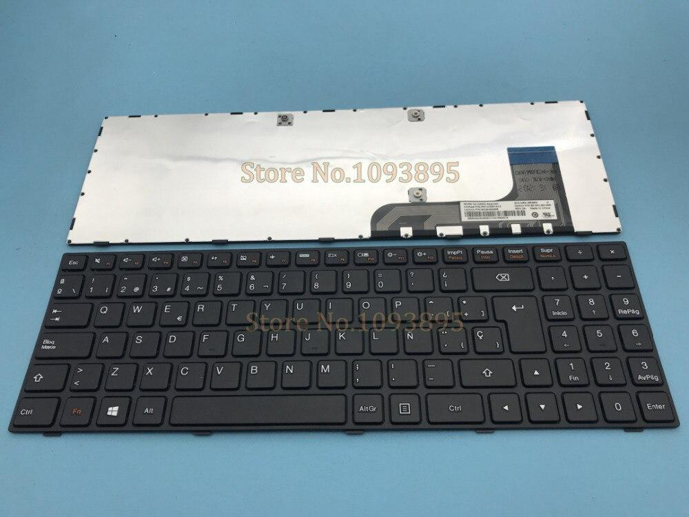 Novo teclado espanhol latino para lenovo ideapad 100-15 100-15iby 100-15ib B50-10 portátil teclado espanhol cabo curto