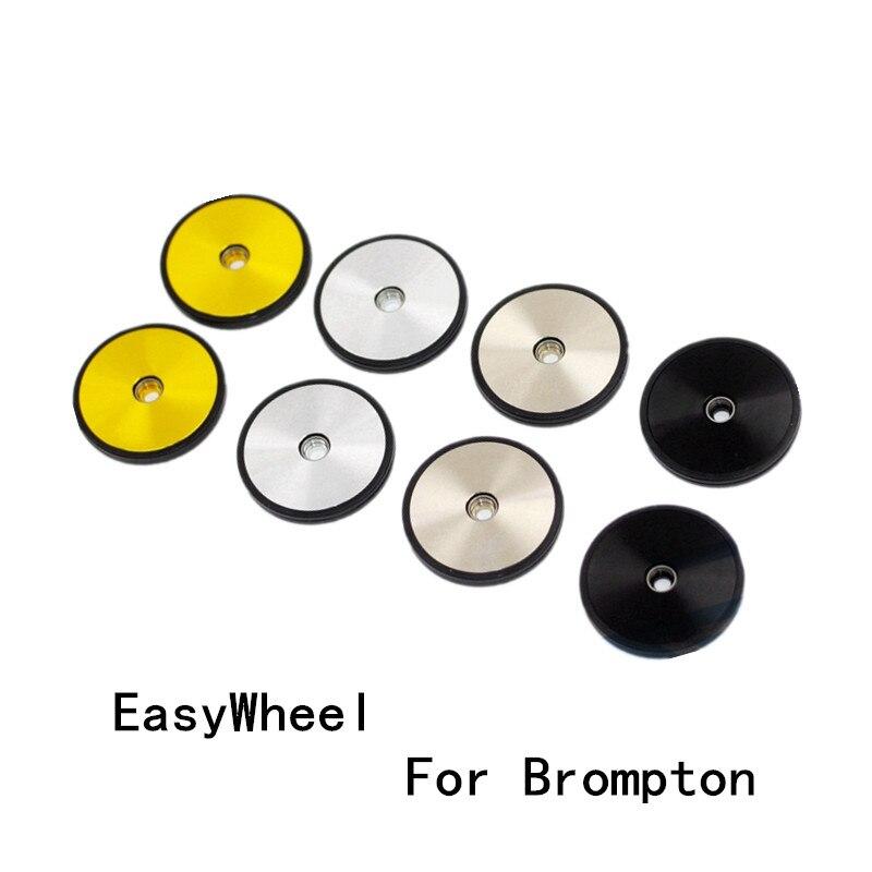 Легкий 1 пара уплотнение велосипеда Easywheel алюминиевый сплав подшипник легкие колеса для велосипеда Brompton стойки 4 вида цветов