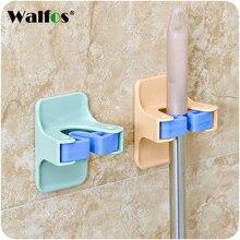 WALFOS Home Clip Mop Hooks No Trace Mop Holder Bathroom Rack