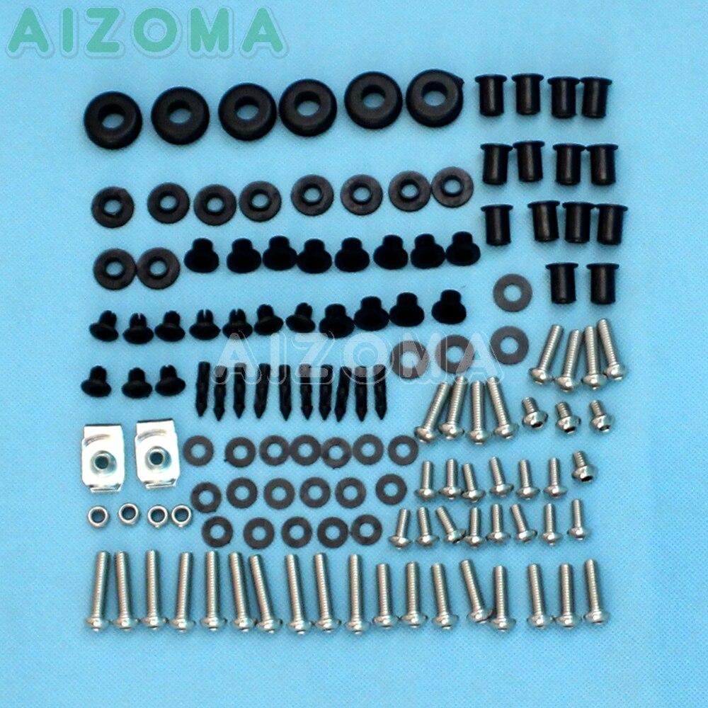 124 חתיכות מלא Fairing גוף חומרה עבור הונדה CBR 1000 RR 2004 2005 CBR1000RR בורג אופנוע בורג אטב קיבוע קיט