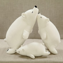 1 pièce ours polaire 40/50/70cm peluche ours blanc peluche mousse Partical poupée pour enfants et filles peluches avec charbon de bambou