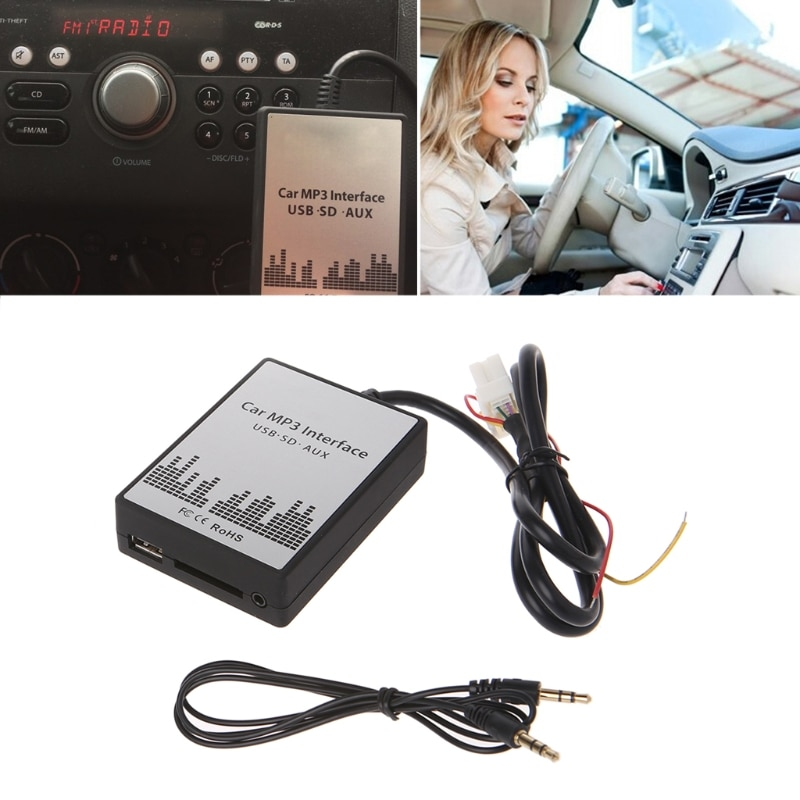 Adaptador de Audio USB SD AUX para coche MP3, cambiador de CD, adaptador de Audio para Nissan Almera MaximaFX, interfaz nueva de 4 + 8 pines