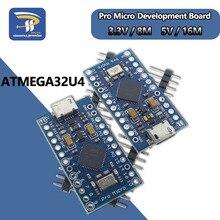 Nouveau MINI Micro USB Pro pour Arduino ATmega32U4 5V/16MHz 3.3V/8Mhz Module avec 2 rangées de broches en-tête Leonardo meilleure qualité