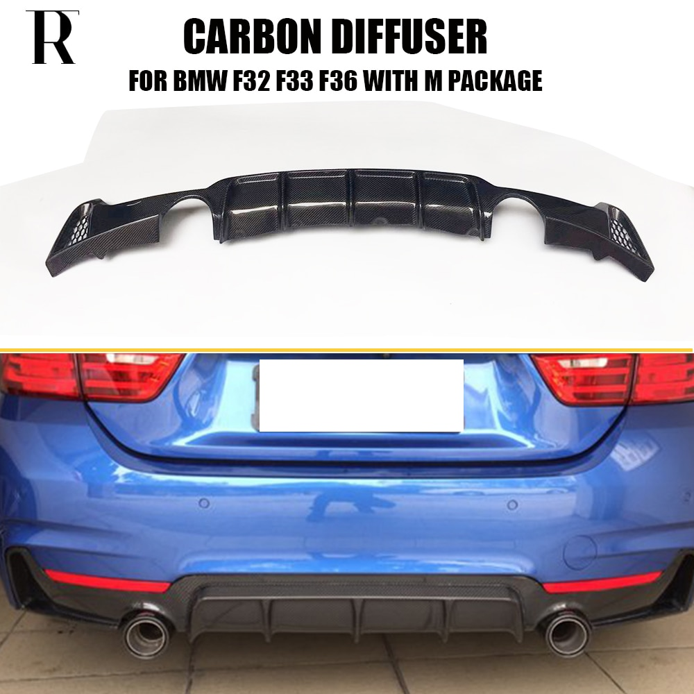 Carbon Fiber Hinten Lip Diffusor Spoiler für BMW F32 F33 F36 420i 428i 435i 420d 428d 435d M- tech M-Sport 2014-2019