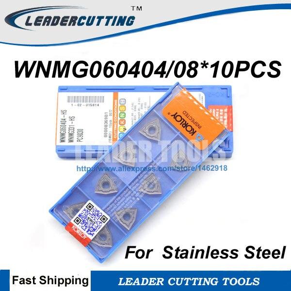 WNMG060404/WNMG060408-HS PC9030 * 10 piezas girando insertos para torno titular WWLNR/MWLNR/PWLNR... para acero inoxidable