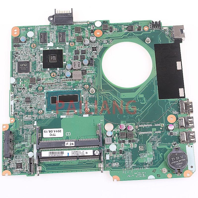 Laptop motherboard para HP 15-N 15-N305TX DA0U83MB6E0 737986-001 737986-501 com I7-4500U completa tesed