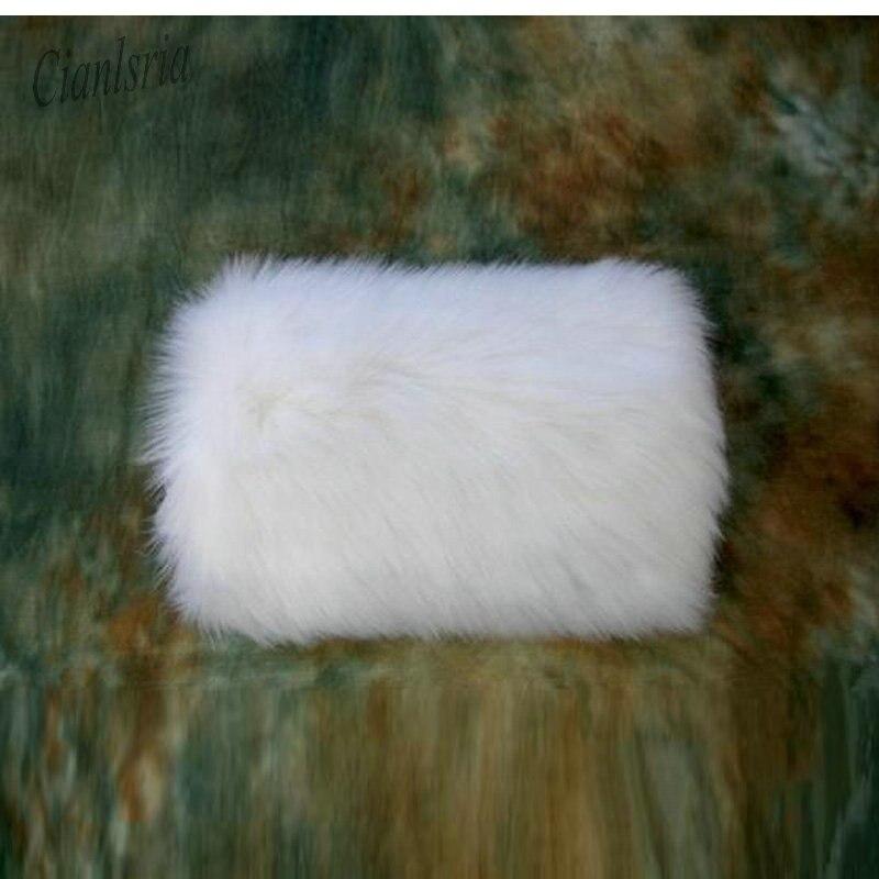 Nueva llegada de alta calidad de imitación de piel de invierno de mano de Color blanco marfil caliente nupcial handwarters guantes de boda
