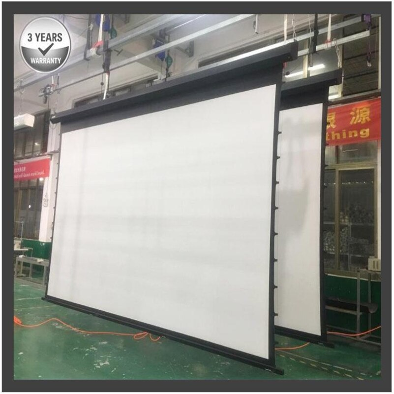 G2HBCA, pantalla de proyección motorizada eléctrica tensada de 200 169 4K con sonido acústico blanco UHD