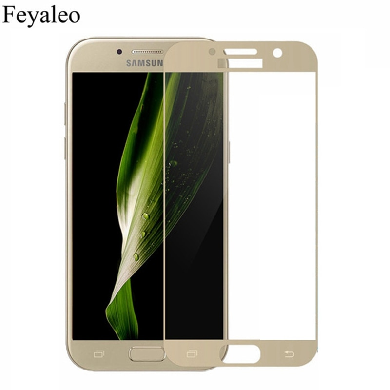 For Samsung Galaxy A5 2017 Full Cover Screen Protector 9H Tempered Glass Safety Covering Protective