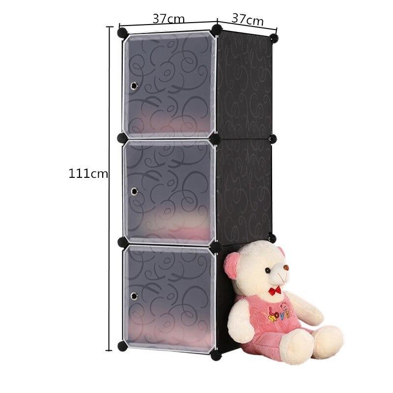 Armarios simples DIY, armario de almacenamiento portátil plegable de PVC, armarios de montaje de estructura de acero para dormitorio, armario de estudiante, envío gratis