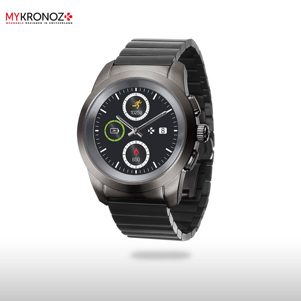 Смарт часы MyKronoz гибридные ZeTime Elite Petite блочный металлический ремешок цвет