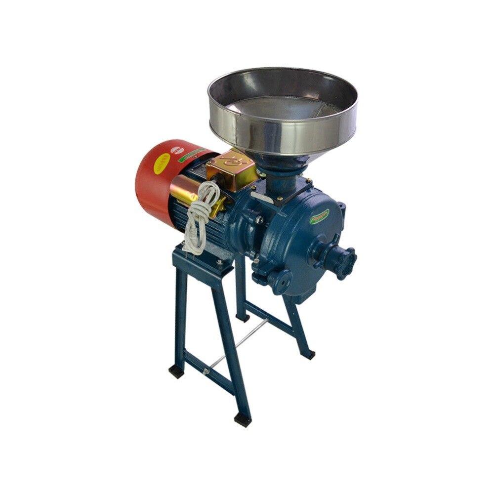 220V الكهربائية تغذية مطحنة الرطب الجاف الحبوب طاحونة الأرز الحبوب القهوة القمح