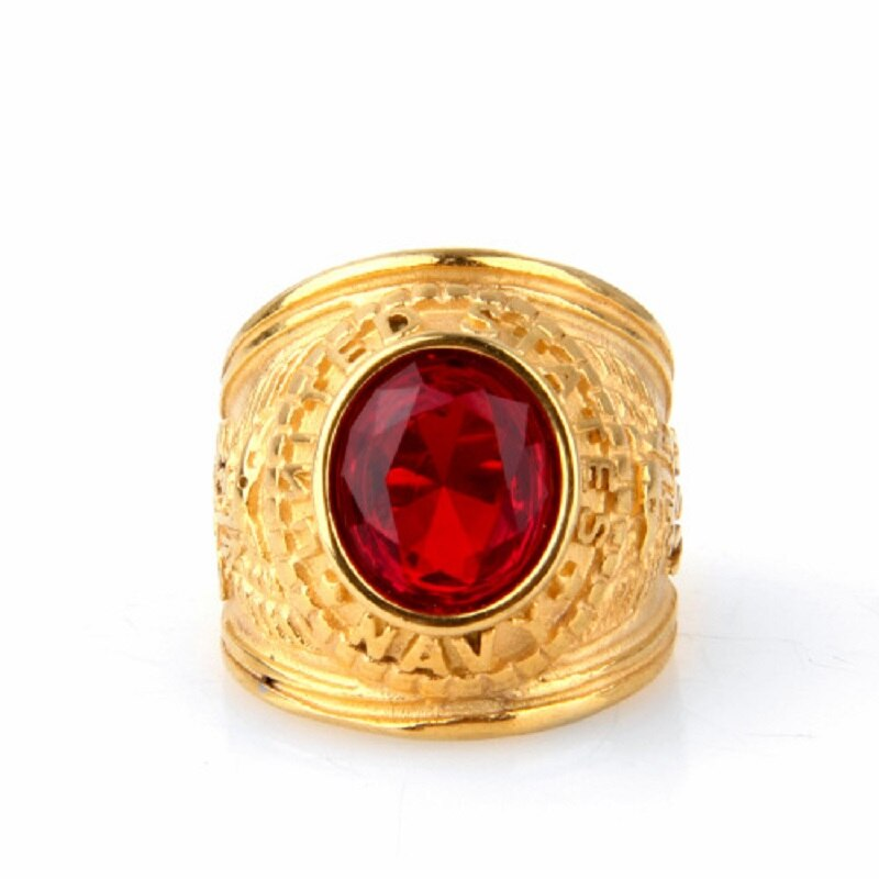 Кольцо из нержавеющей стали в европейском и американском стиле, мужское ювелирное изделие, титановая сталь, кольцо для солдат ВМС США