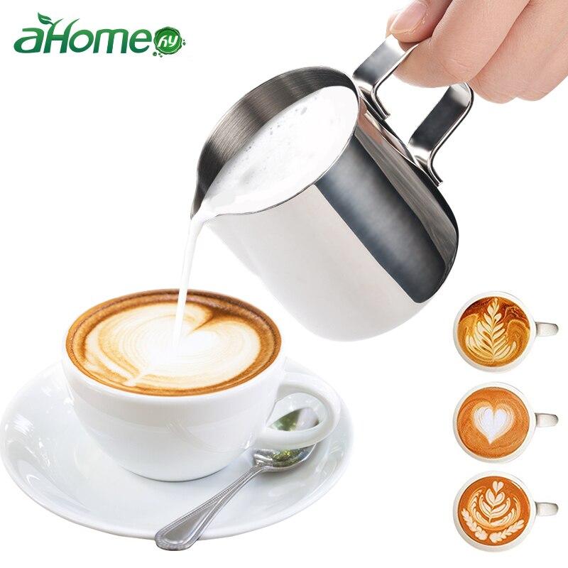 Stainless Steel Milk frothing jug Espresso Coffee Pitcher Barista Craft Coffee Mug Latte Milk Frothing Jug Pitcher 150ml