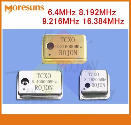 Rápido envío gratis 4 unids/lote 6,4 MHz 8.192 MHz 9.216 MHz TCXO 16.384 ppm oscilador de cristal de compensación de temperatura