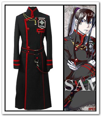 Envío gratis D gris-hombre Yuu Kanda chaqueta uniforme Anime Cosplay traje