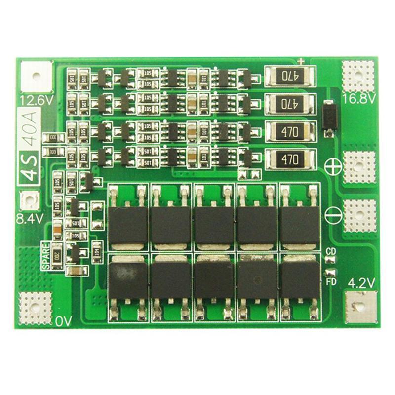 4S 40A cargador de batería de litio Li-ion PCB BMS Placa de protección con Balance para Motor de taladro 14,8 V 16,8 V Lipo módulo para la célula
