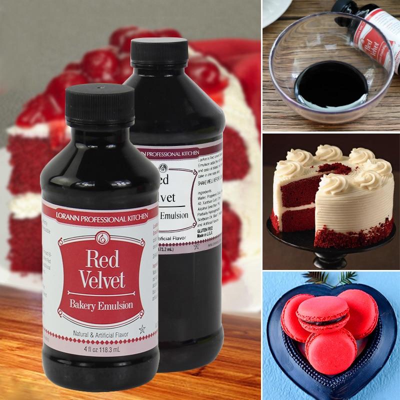 Crimson, Lorann Veludo Vermelho bolo de veludo vermelho cor ingredientes aromatizantes, corantes de alimentos cozimento creme gel fondant de decoração do bolo