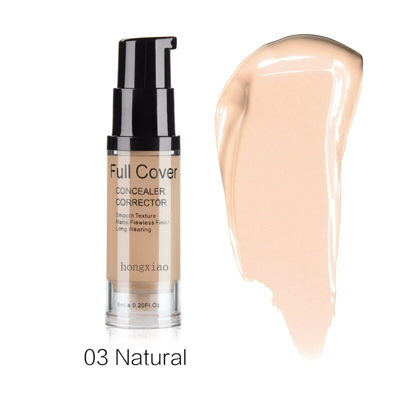 1PC Natural Make Up Base Cosmetic Full Cover Concealer Makeup Cream Face Corrector Waterproof 6 colors недорого