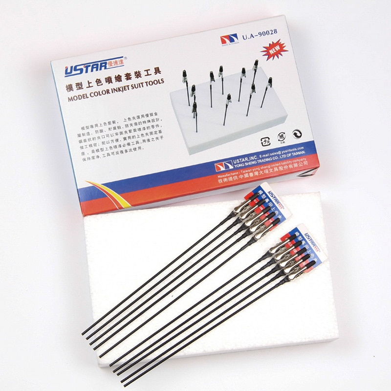 Ustar ua90028 modelo base de cores e clipes terno modelo ferramentas modelagem ferramentas hobby ferramentas pintura acessório