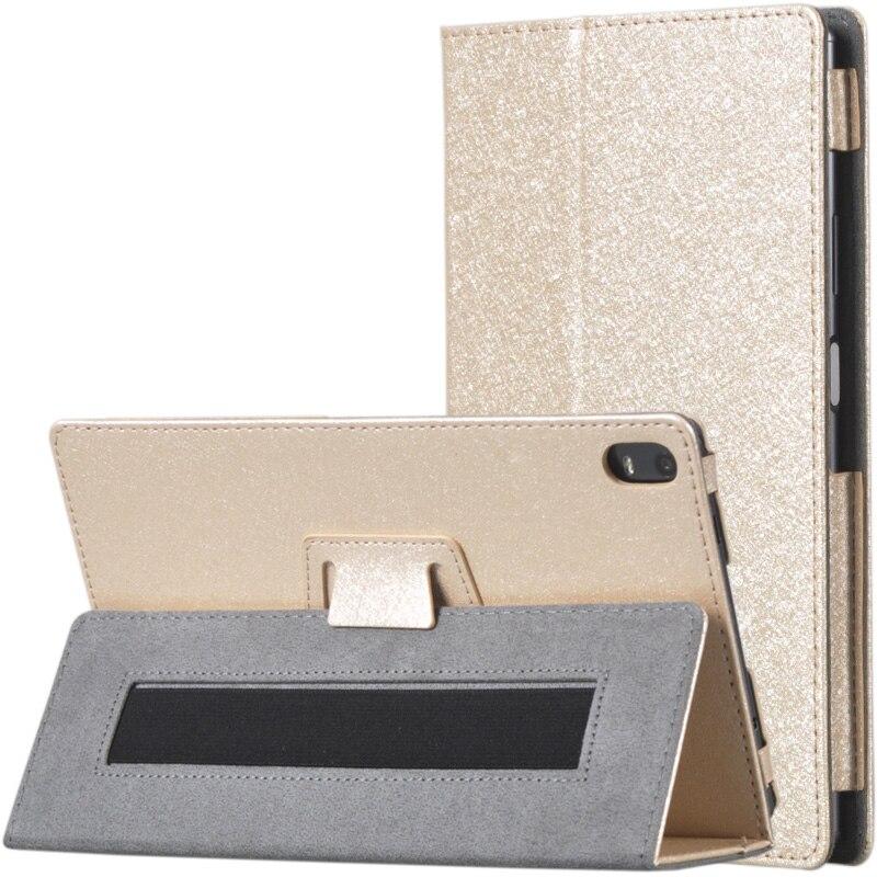 30 piezas seda PU de cuero de la cubierta del tirón del caso para Lenovo Tab 4 8 Plus TB-8704F TB-8704N TB-8704X Tablet de 8 pulgadas claro Protector de pantalla