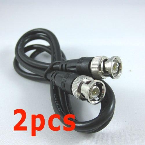 2 uds 2M 6 pies BNC RG59 vídeo CCTV Coaxial Cable de conexión para cámara