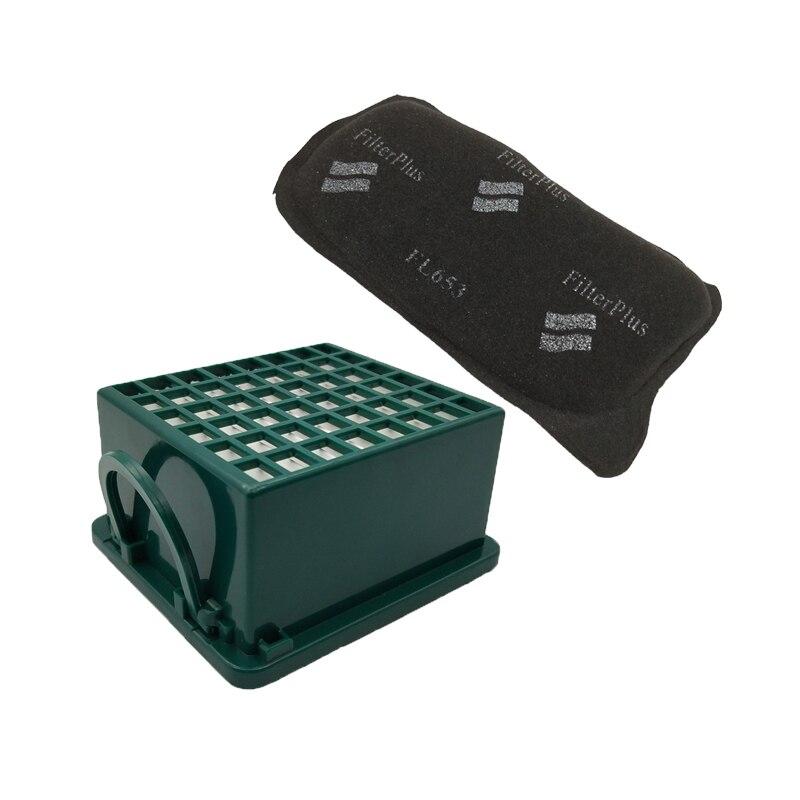 Filtro Hepa y filtros de carbón activado para Vorwerk Kobold VK130 VK131 VK131SC EB350 EB351 reemplazos de filtro de aspiradora