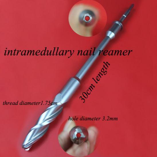 Instrumento ortopédico médico fximal femur escariador PFNA intramedular exprimidor de clavos taladro hueco 3,2 agujero de expansión hueso quirúrgico