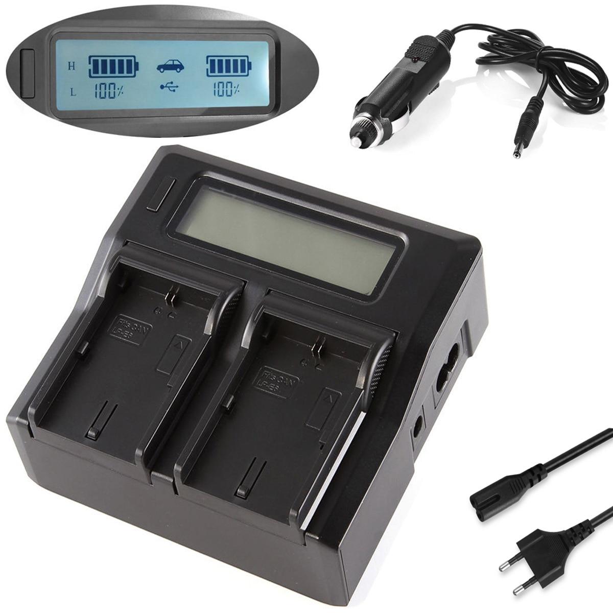Cargador rápido de batería LCD para videocámara Sony HXR MC1500, MC1500P, MC1500E,...