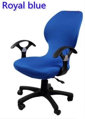 Cor azul Royal lycra cadeira do computador capa apto para spandex tampa da cadeira da cadeira do escritório com apoio de braço decoração atacado